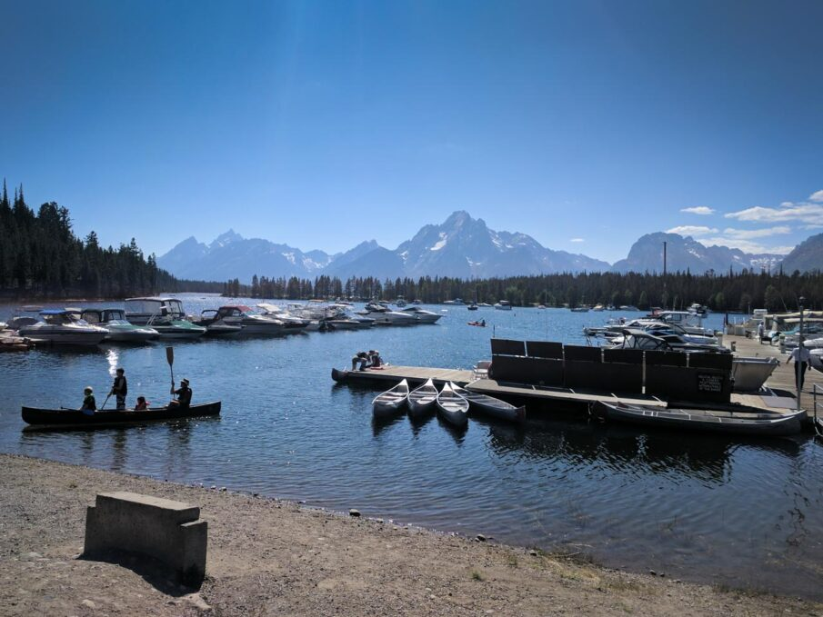 Colter Bay Marina at Jackson Lake in Grand Teton National Park