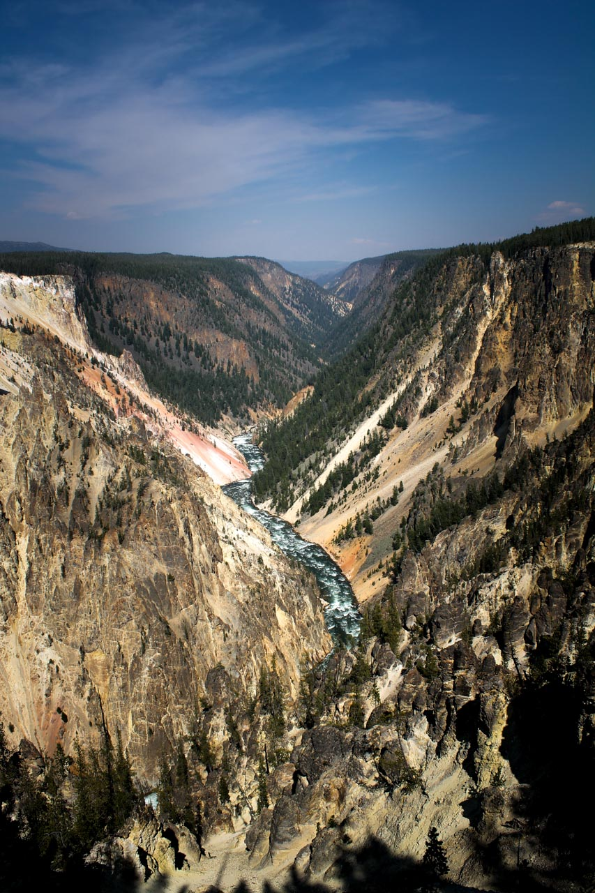 The Grand Canyon of the Yellowstone from the trail from Artist Point to Point Sublime
