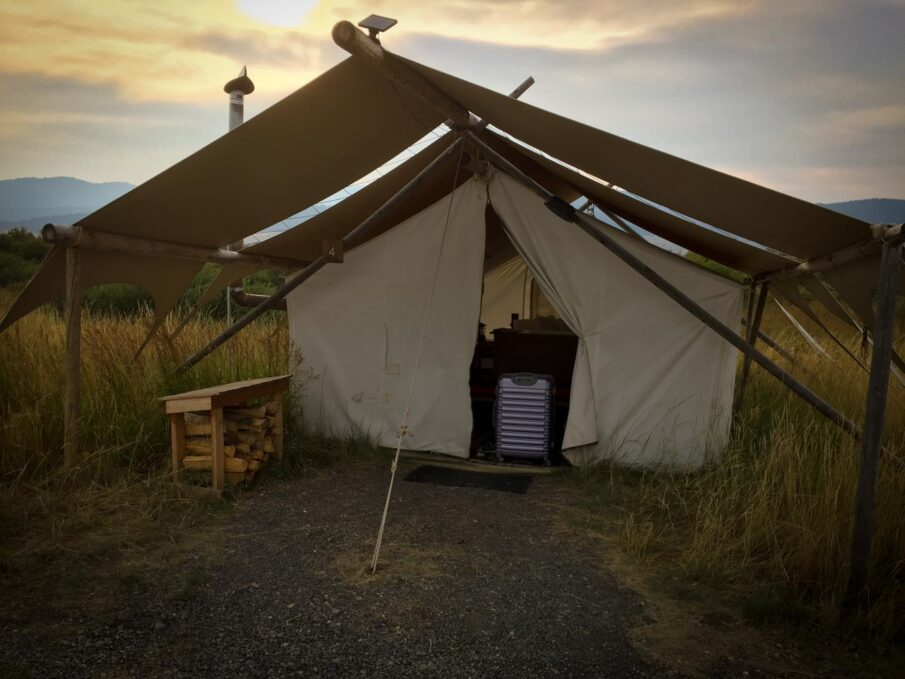 Safari tent at Under Canvas, Yellowstone
